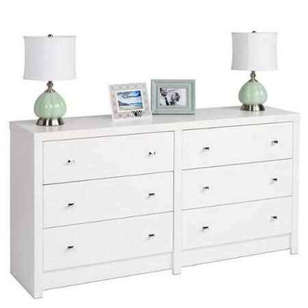 Prepac Pure White Nolita 6 drawer Dresser. Prepac Pure White Nolita 6 drawer Dresser   Walmart com
