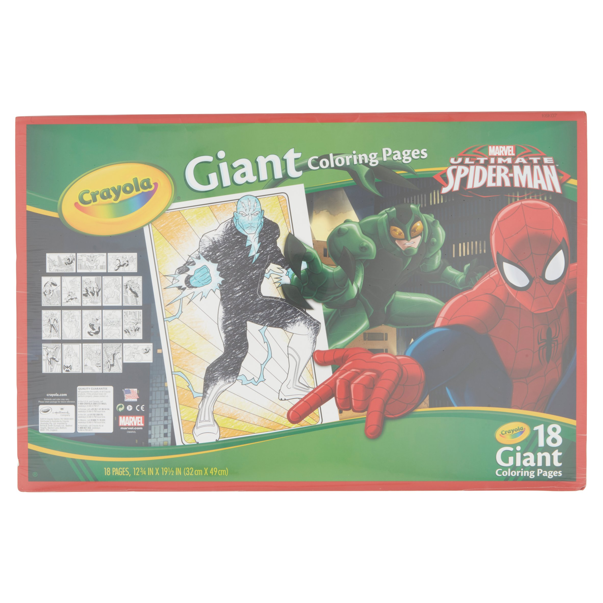 Crayola Giant Coloring Pages, Featuring Spiderman, 18 Pages ...