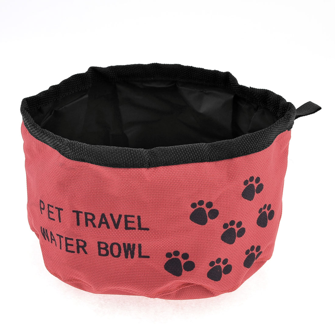 Red Black Foldabe Pet Dog Doggie Cat Hiking Traveling Food Water Bowl
