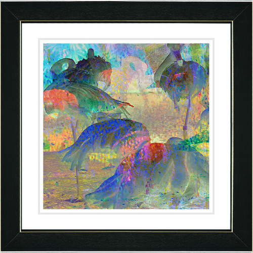 Studio Works Modern ''Abstract Flamingos'' by Zhee Singer Framed Graphic Art