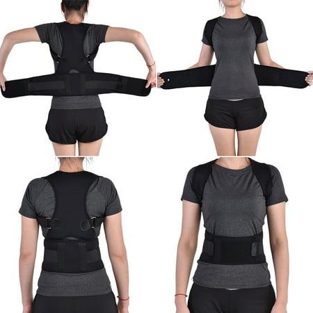 Men Women Elastic Adjustable Shoulder Brace Waist Belt Back Support Posture Corrector,Posture Corrector, Shoulder Support Brace