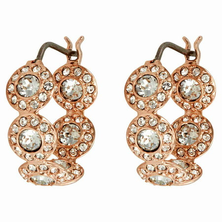 - Swarovski Angelic Rose Gold Plated Mini Hoop Earrings