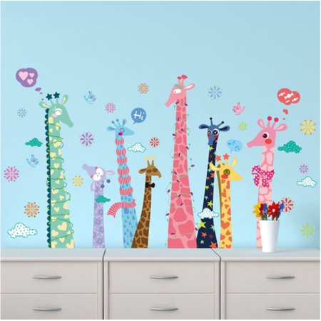Kids Nursery Baby Room Giraffe Removable Vinyl Decal Wall Sticker Home Decor (Giraffe Nursery Decor)