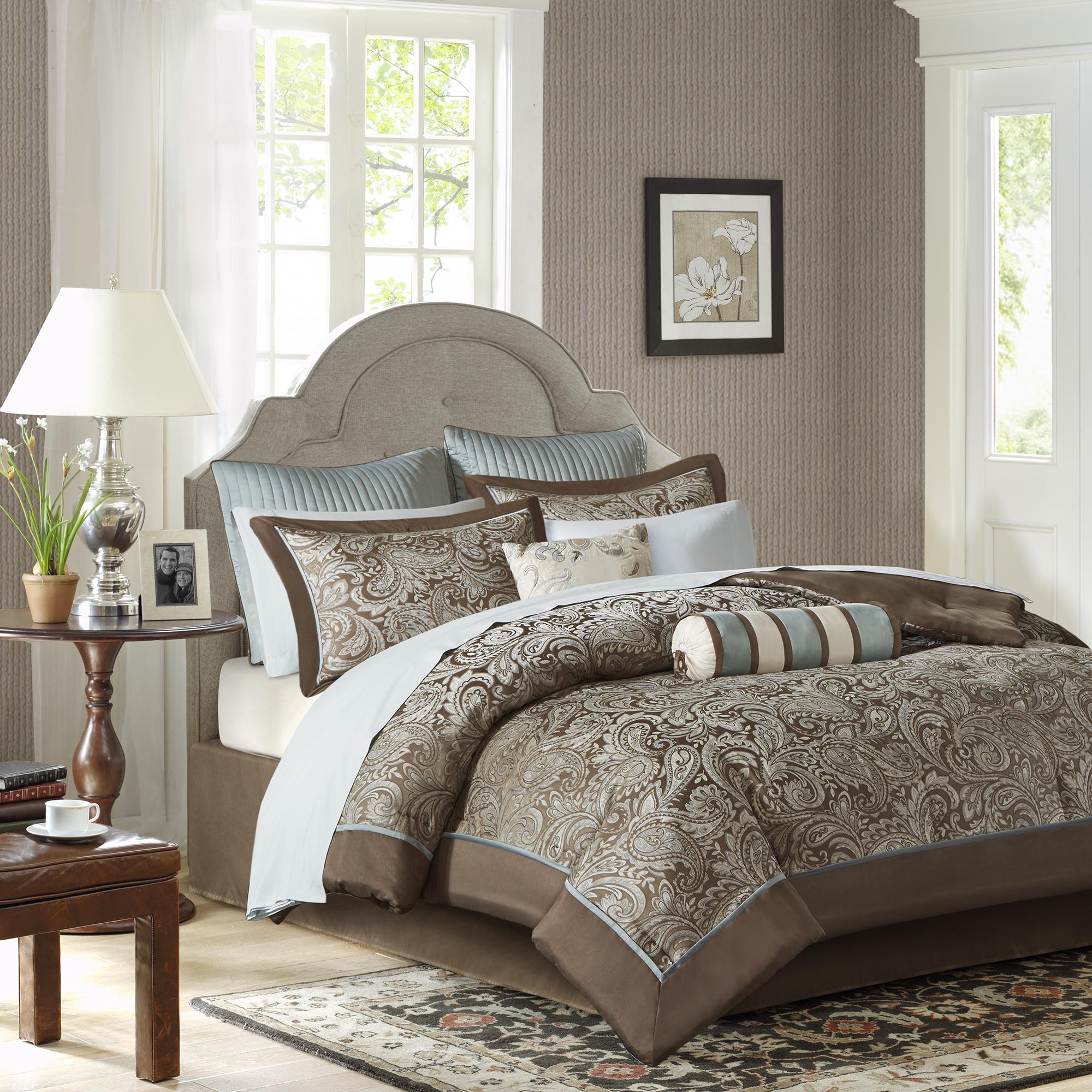 Home Essence Whitman 12 Piece Jacquard Comforter Set