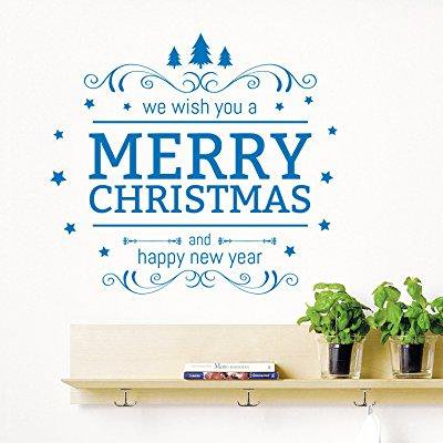 We Wish You Christmas Wall Decals Tree Ornament Decal Holiday Decorations Vinyl Sticker Home Shop Window