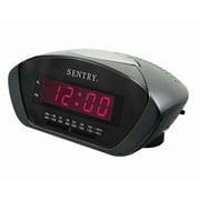 Sentry Digital LED AM/FM Clock Radio, Black