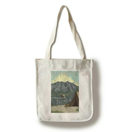 Mexican Bush - Bush Plane Fishing - New Mexico - LP Original Poster (100% Cotton Tote Bag - Reusable)