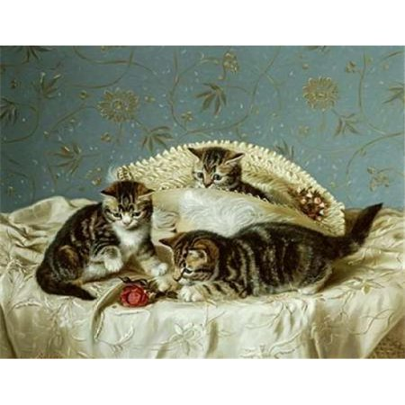Bentley Global Arts PDX266105SMALL Kittens Up To Mischief Poster Print by Horatio Henry Couldery, 11 x 14 - Small - image 1 de 1