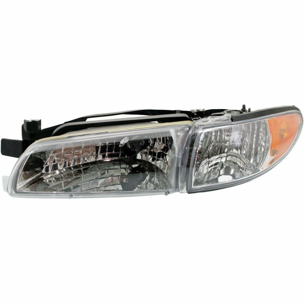 Headlight Assembly Compatible with 1997-2003 Pontiac Grand Prix Halogen Coupe//Sedan Driver Side