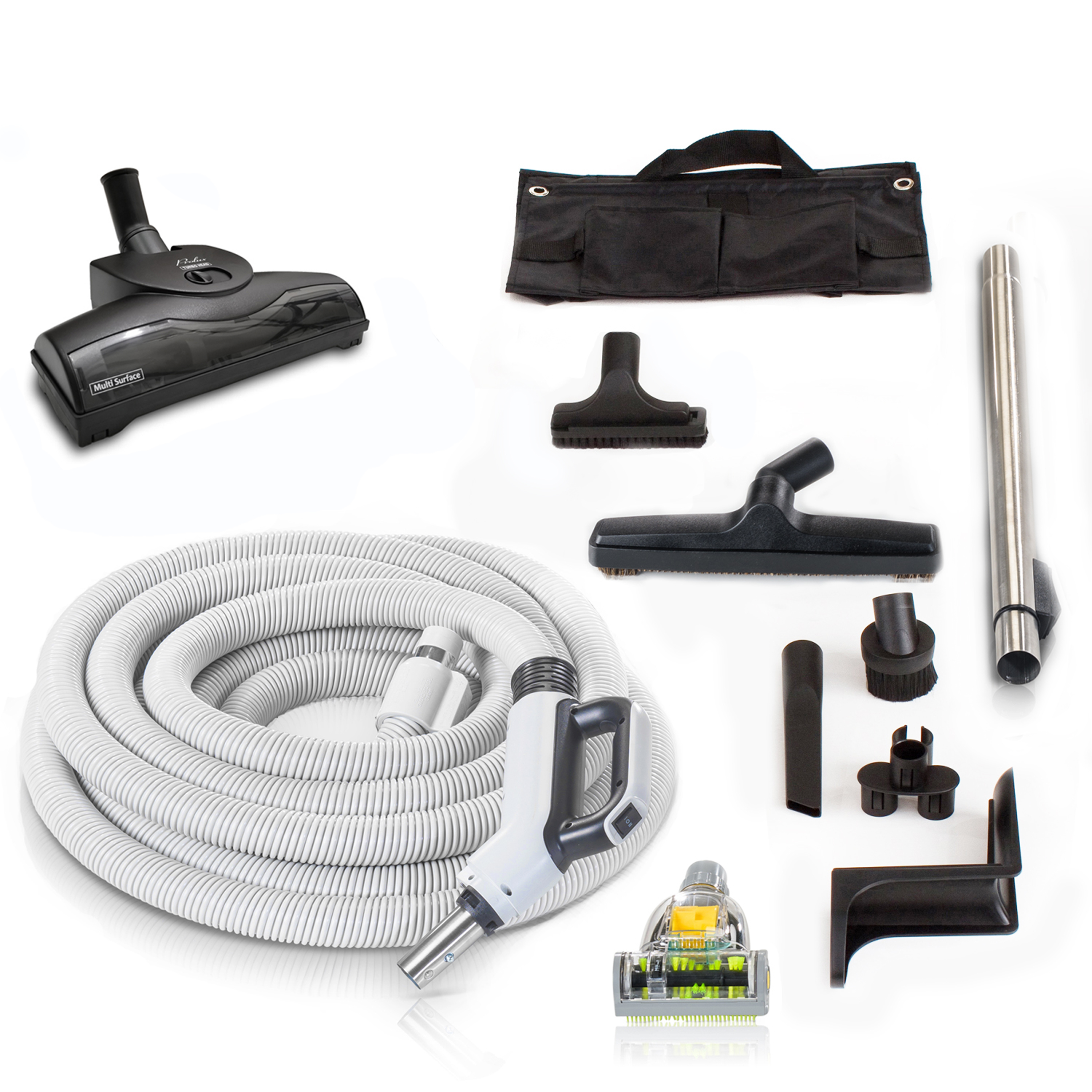 35' Central Vacuum Hose Kit with Turbo Nozzles & 1 YR warranty by Prolux