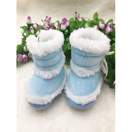 Toddler Newborn Baby Girl Solid Boots Soft Sole Boots Prewalker Warm Shoes - Girls Purple Sequin Boots