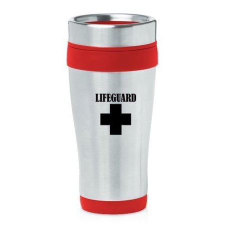 Red 16oz Insulated Stainless Steel Travel Mug - Red Insulated Travel Mug
