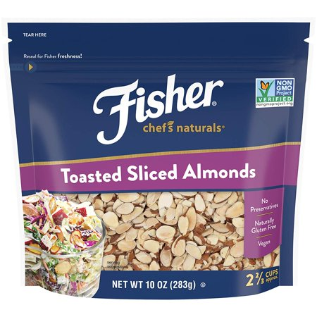 FISHER Chef's Naturals, Toasted Sliced Almonds, No Preservatives, Non-GMO, 10 oz Almond Toasted Toffee