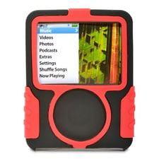 GRIFFIN SILISKIN SILICONE BLACK/RED CASE FOR APPLE IPOD NANO 3G 8185-NSKINBR (Griffin Nano Case)