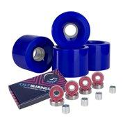 Cal 7 Polyurethane Skateboard Wheels for Street and Park 65x51mm 80A (Blue)