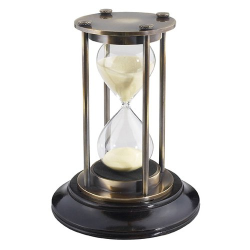 Authentic Models 5.25H in. Bronzed 30 Minute Hourglass