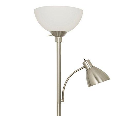 Brushed Nickel Floor Lamp (Brushed Nickel Floor Lamp with Side Reading Lamp)