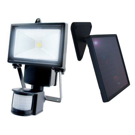 Nature Power 180° Black Outdoor Solar Motion Sensing Security Light with Advance LED Technology