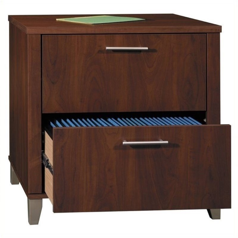 Bowery Hill 2 Drawer Lateral File Cabinet In Hansen Cherry   Walmart.com