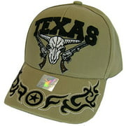 Best Cap Guns - Texas Skull Guns & Flames Men's Adjustable Baseball Review