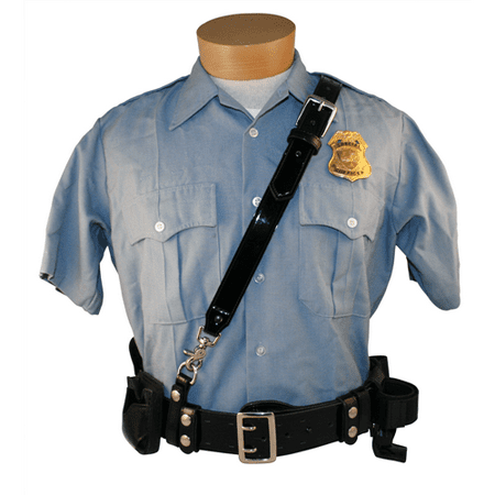 - Boston Leather Sam Browne Shoulder Strap with D-rings 1.25