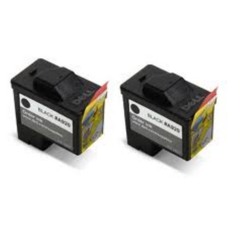 AIM Compatible Replacement - Dell Compatible A720/920 Black Inkjet (2/PK) (Series 1) (2BK920N) - Generic Dell T0529 Black Inkjet