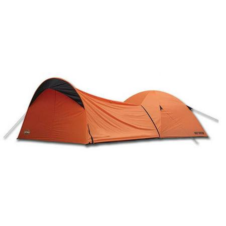 harley-davidson dome tent w/ vestibule motorcycle storage, orange
