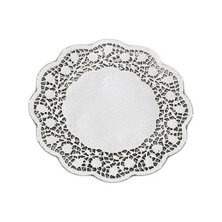 Paderno World Cuisine Paper Doilies, Round Disposable Placemats, 6.62