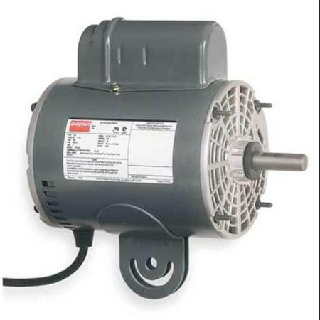 DAYTON 4UX60 Fan Motor, PSC, 1/4hp, 1075/2-spd, 115v, 48YZ