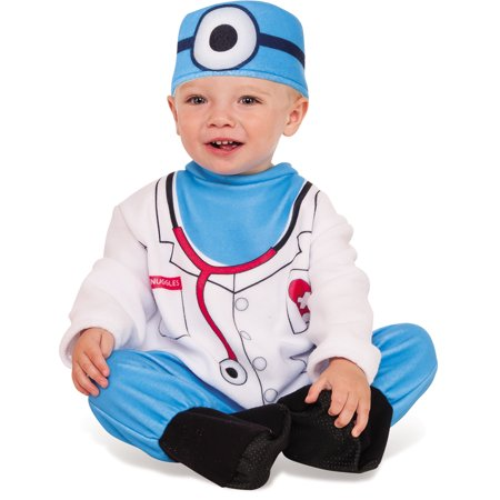 Doctor Snuggles Infant Toddler Blue Scrubs Surgeon Halloween Costume](Doctor Toddler Costume)