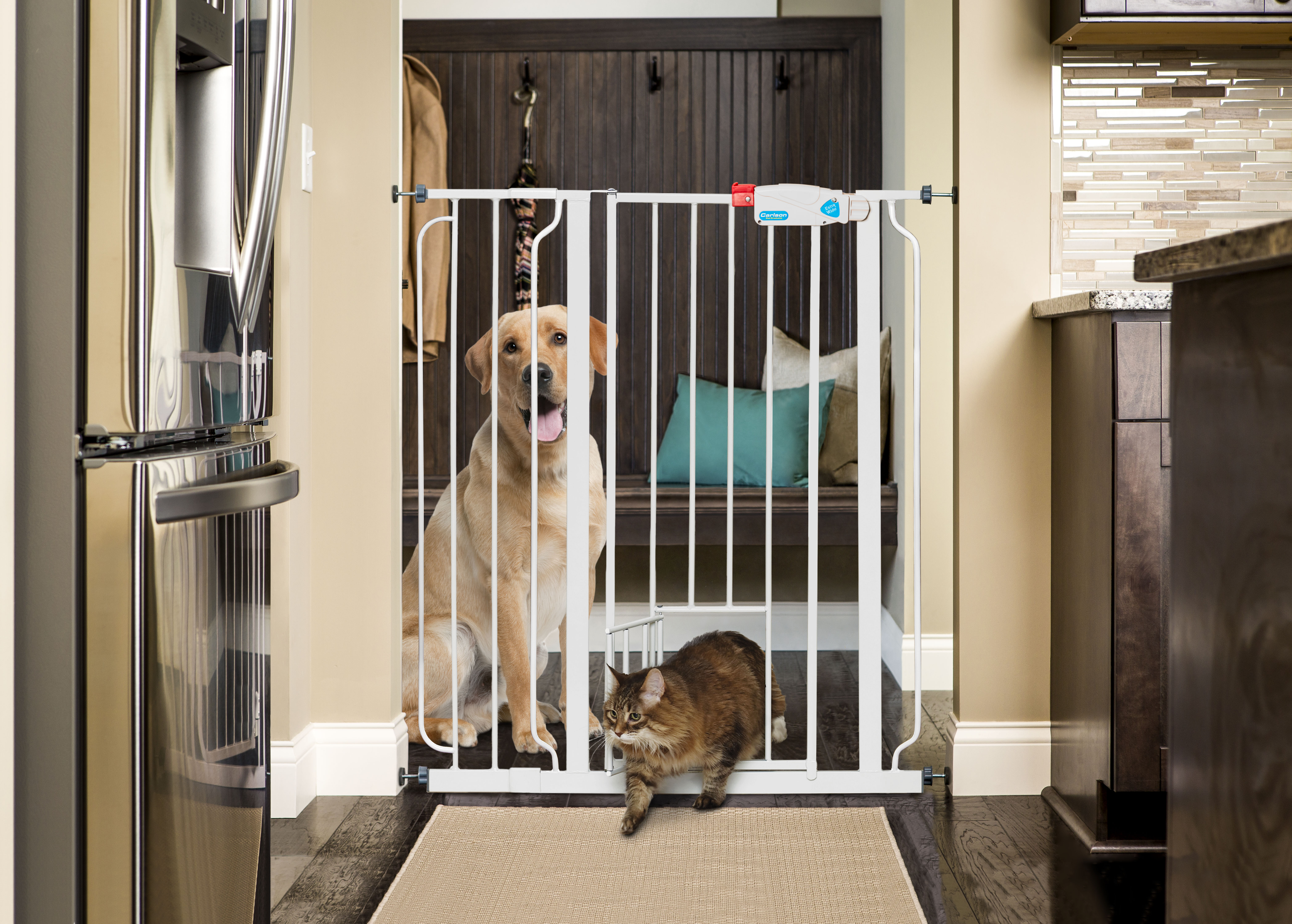 Carlson 1524HEW Beige Steel Pet Gate Extension For Used with CP11510