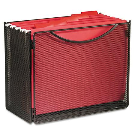 Safco Desktop File Storage Box  Steel Mesh  12 1 2W X 7D X 10H