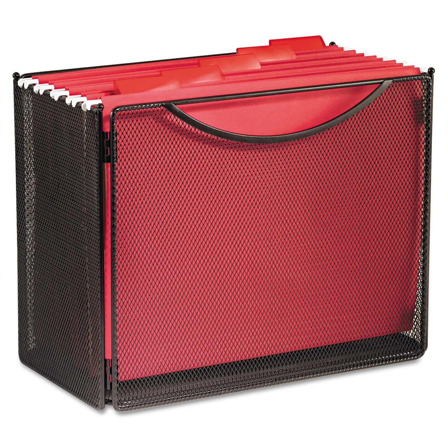 Safco Desktop File Storage Box, Steel Mesh, 12-1/2w x 7d x 10h -SAF2169BL