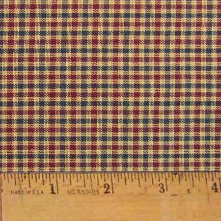 Americana 2 Plaid Homespun Cotton Fabric Sold by the Yard - JCS (Plaid Fabric By The Yard)