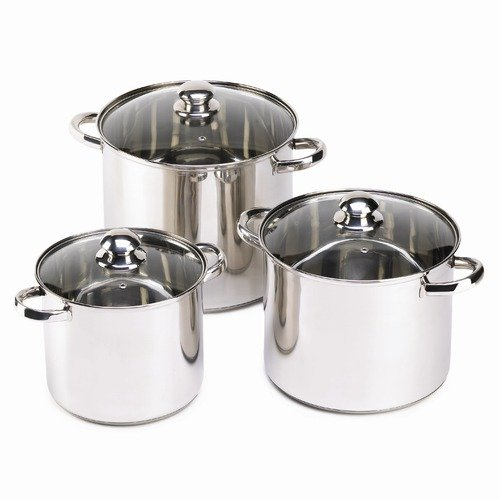Malibu Creations Lidden Stainless Stock Pot  (Set of 3)