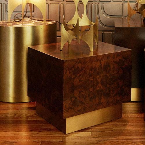 M3LD Milton Burl Small Cube End Table