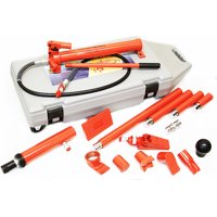 10 Ton Portable Power Hydraulic Jack Body Frame Repair Kit with Carry Wheeled Case