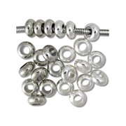 Spacer Beads and Charms for Pandora Charm Bracelets - Platinum and Silver Spacers