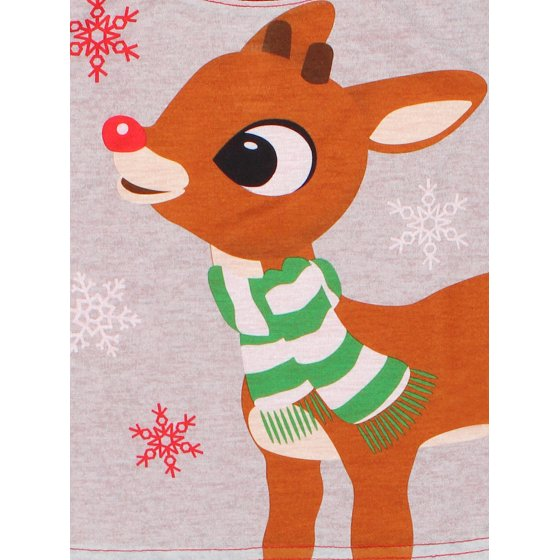 849f07fc297c2 Rudolph the Red Nosed Reindeer - Rudolph Red Nosed Reindeer Christmas  Holiday Family Toddler Pajamas 21RD033ELL - Walmart.com