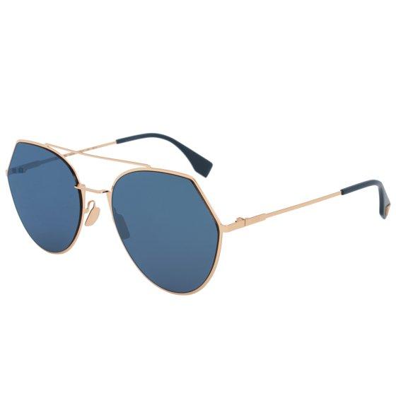 08be59be30 Fendi - Fendi Eyeline Pilot Sunglasses FF0194S 000 2A 55 - Walmart.com