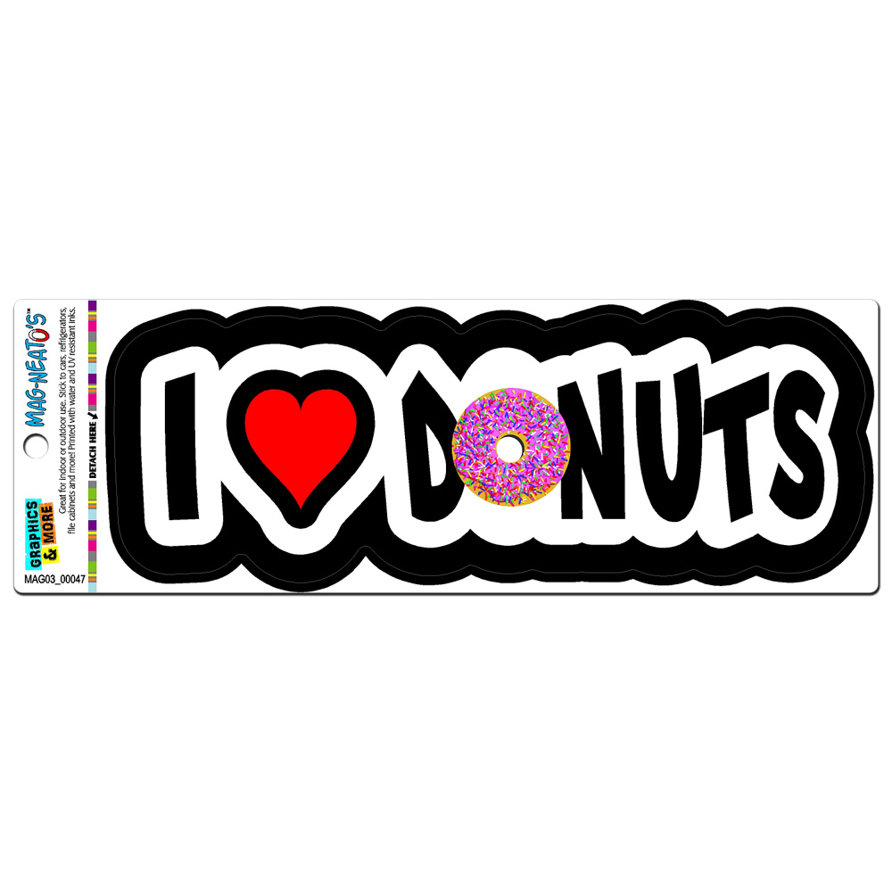 I Love Heart Donuts MAG-NEATO'S(TM) Car/Refrigerator Magnet