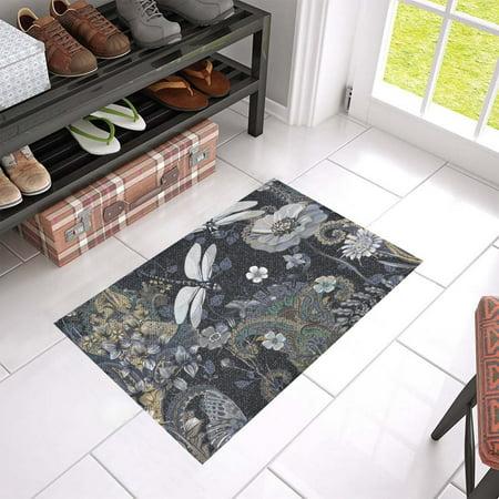 MKHERT Dragonflies Doormat Rug Home Decor Floor Mat Bath Mat 23.6x15.7 - Dragonfly Door