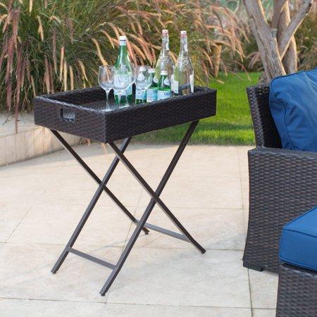 Coral Coast Berea Outdoor Wicker Butler Tray Table