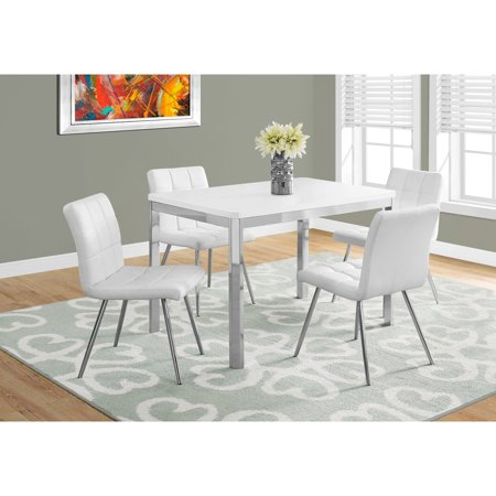 Monarch Specialties 48 in. Rectangular Dining Table - White/Chrome ()