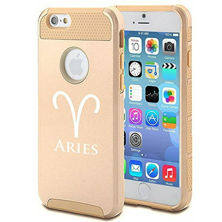 Apple Iphone Se Shockproof Impact Hard Soft Case Cover Horoscope Zodiac Birth Sign Aries  Gold  Mip