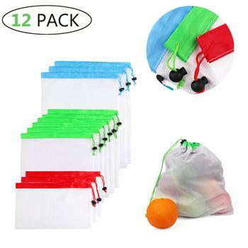 Meidong 12-Pieces Reusable Mesh Produce Bags