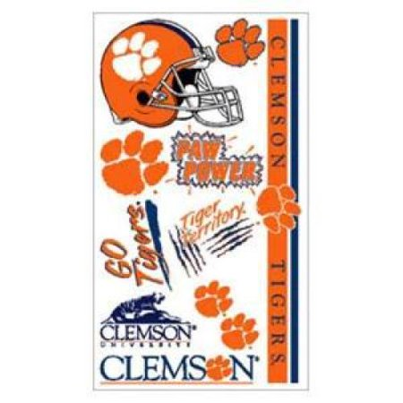 Clemson Tigers Temporary Tattoos - Tiger Butterfly Tattoo