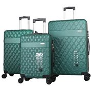 """Mirage Diva ABS Luggage Sets Hardside 360 Spinner Lightweight Durable Spinner Suitcase 20"""" 24"""" 28"""", with Combination Lock 3PCS Set (Hunter Green)"""