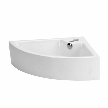 Round Above Counter Bath Sink - Small Bathroom Corner Above Counter Vessel Sink