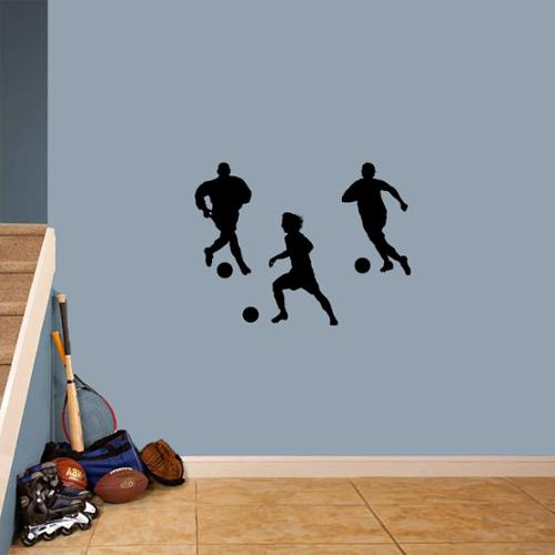 Sweetums Soccer Players Small Wall Decal Set